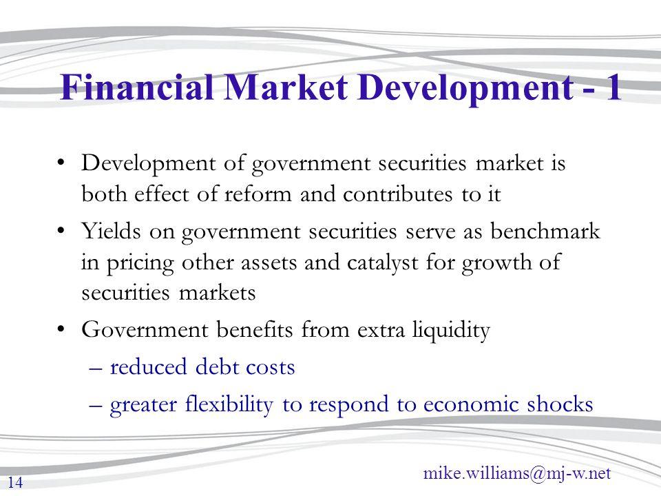 Financial Market Development - 1