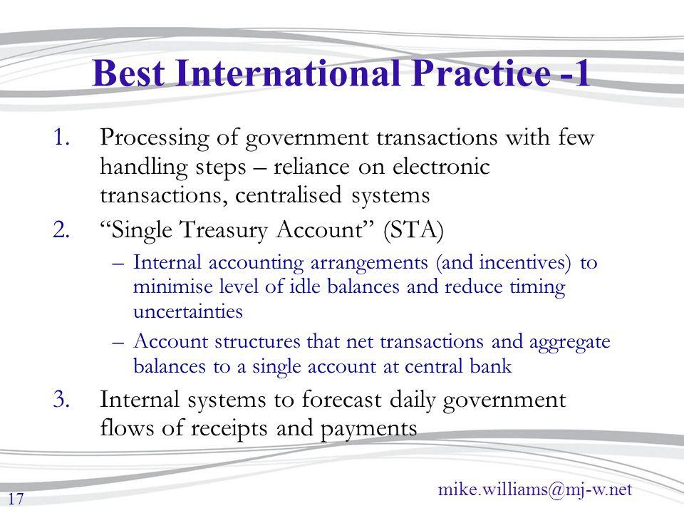 Best International Practice -1