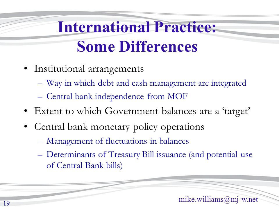 International Practice: Some Differences