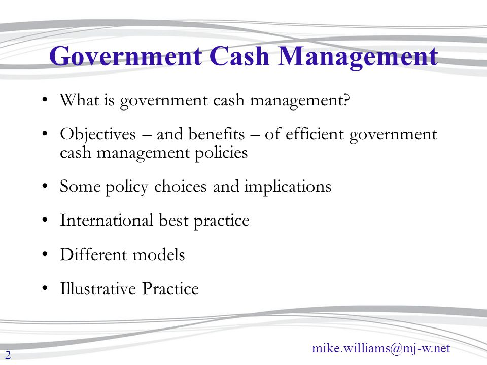 efficient cash management The first article dealt with tax efficient (intragroup) hedging activities, the second with efficient (intragroup) loan activities and the third with cash pool management in this article, we will provide an example of a tax efficient cash management structure that contains all the elements discussed in the previous articles.