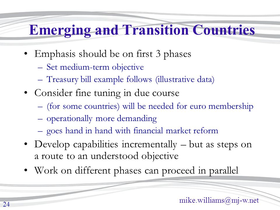 Emerging and Transition Countries