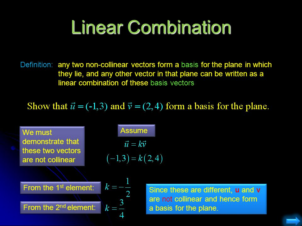 Linear Combination