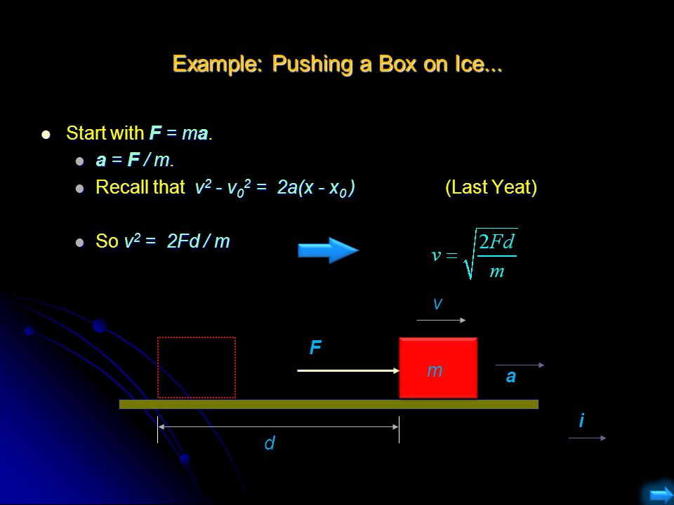 Example: Pushing a Box on Ice...