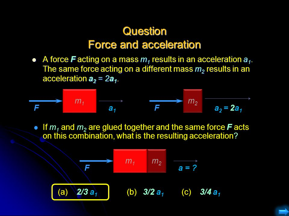 Question Force and acceleration