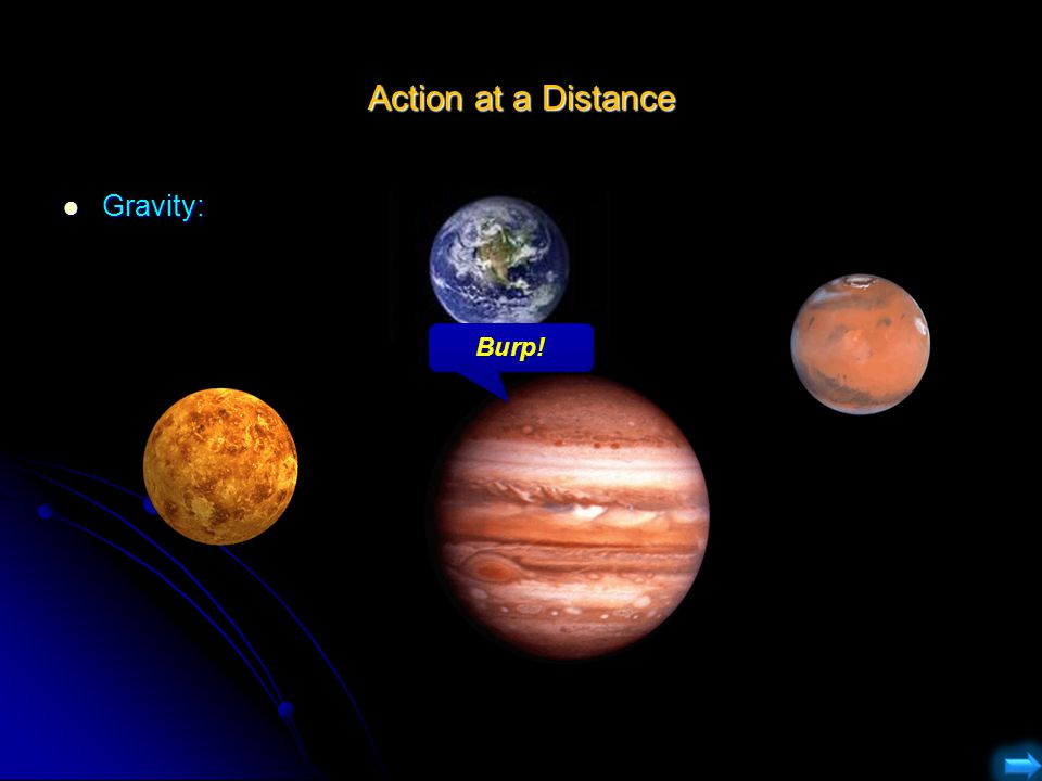 Action at a Distance Gravity: Burp!