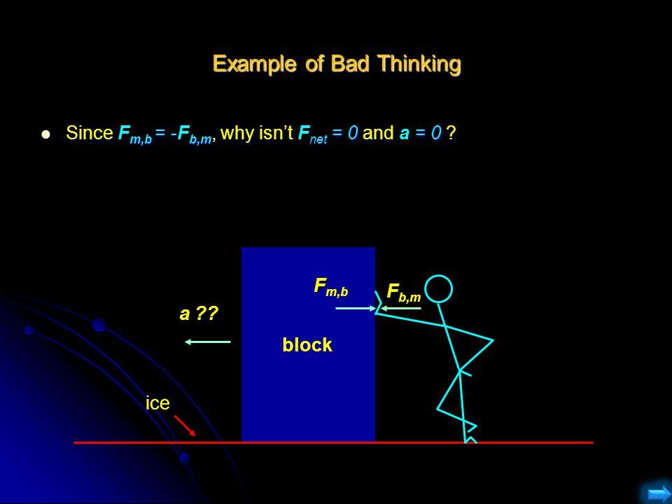 Example of Bad Thinking