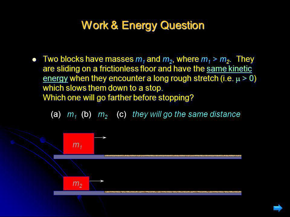 Work & Energy Question