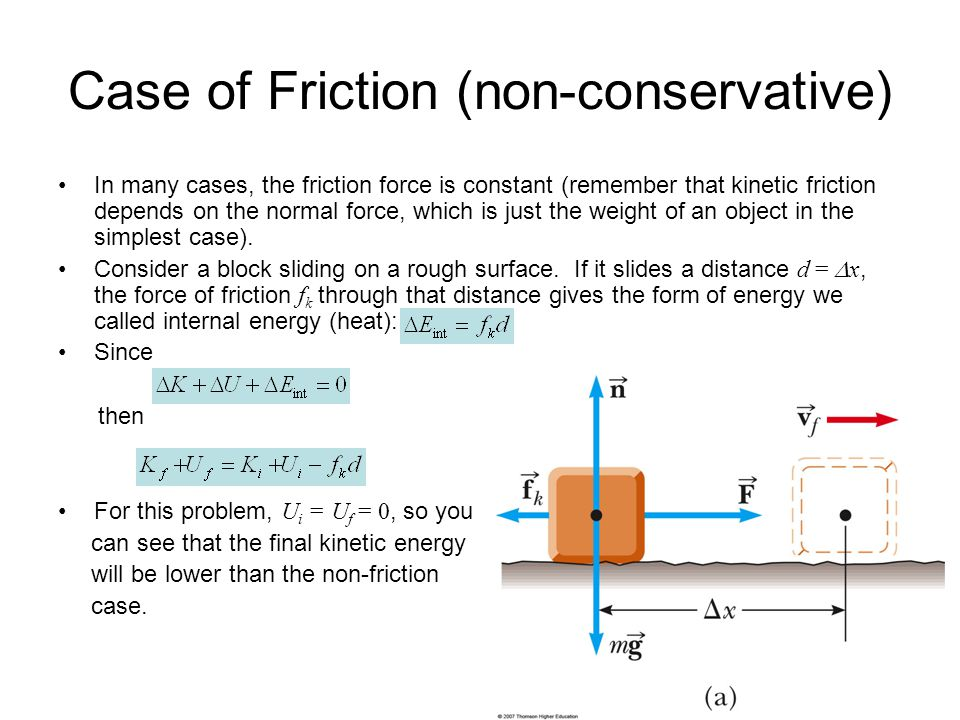 Case of Friction (non-conservative)