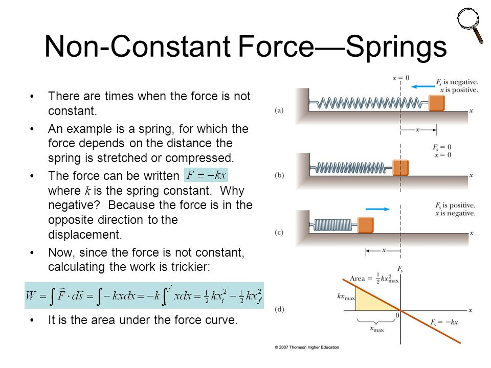 Non-Constant Force—Springs
