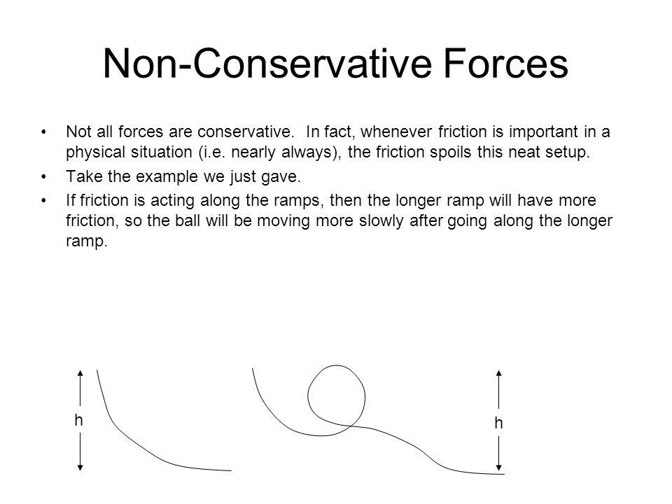 Non-Conservative Forces