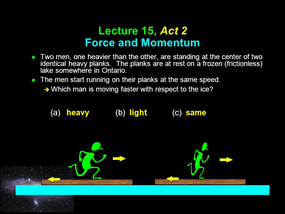 Lecture 15, Act 2 Force and Momentum