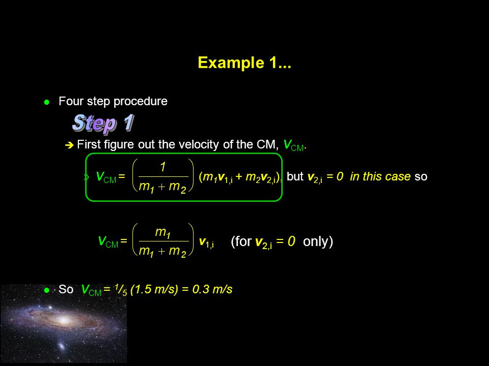 Step 1 Example 1... (for v2,i = 0 only) Four step procedure
