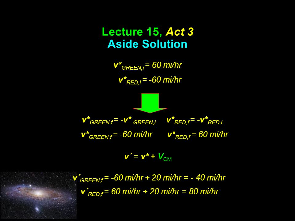 Lecture 15, Act 3 Aside Solution