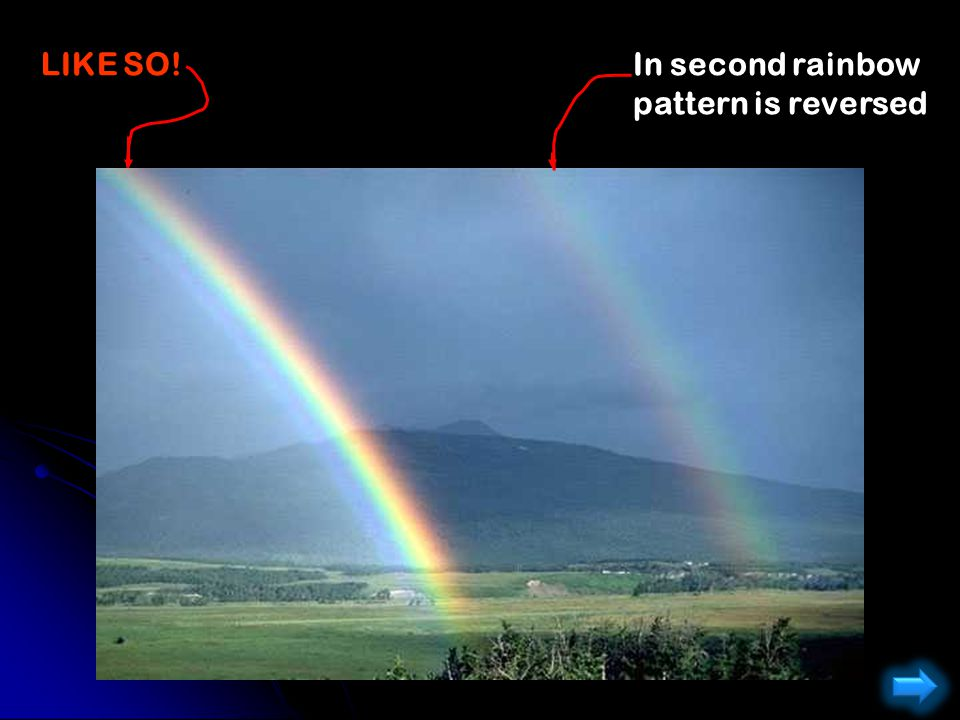 LIKE SO! In second rainbow pattern is reversed