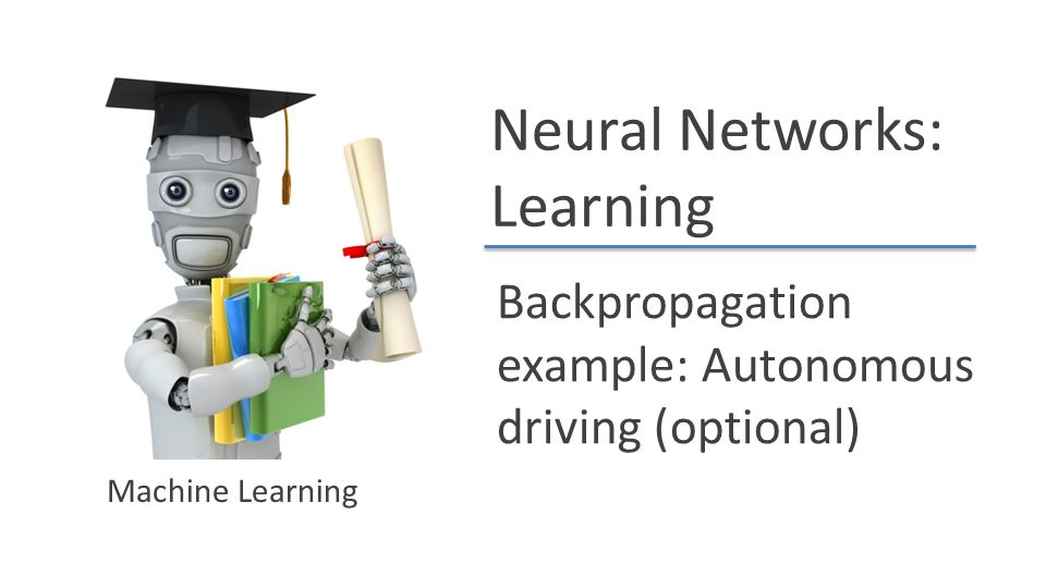 Backpropagation example: Autonomous driving (optional)