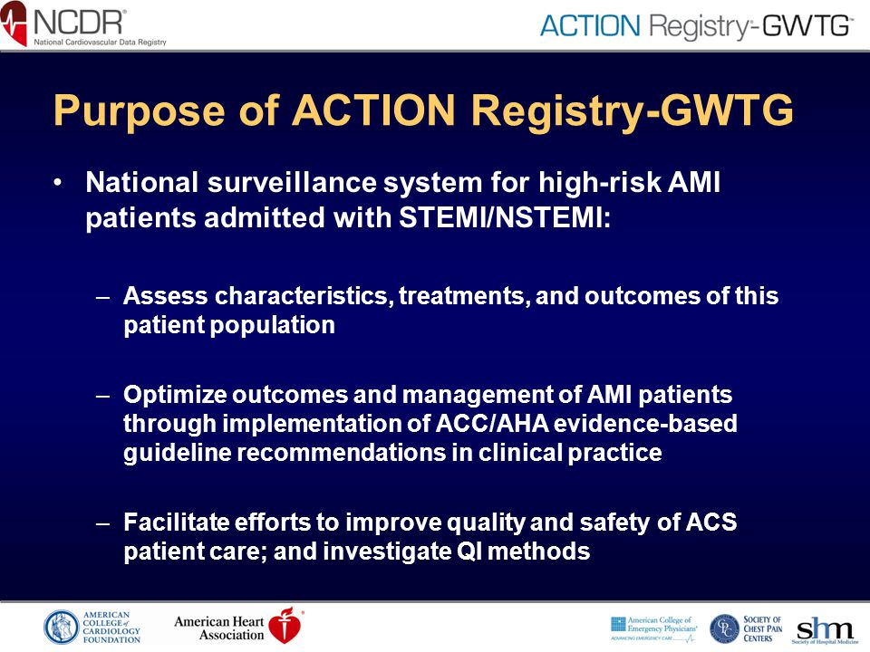 Purpose of ACTION Registry-GWTG