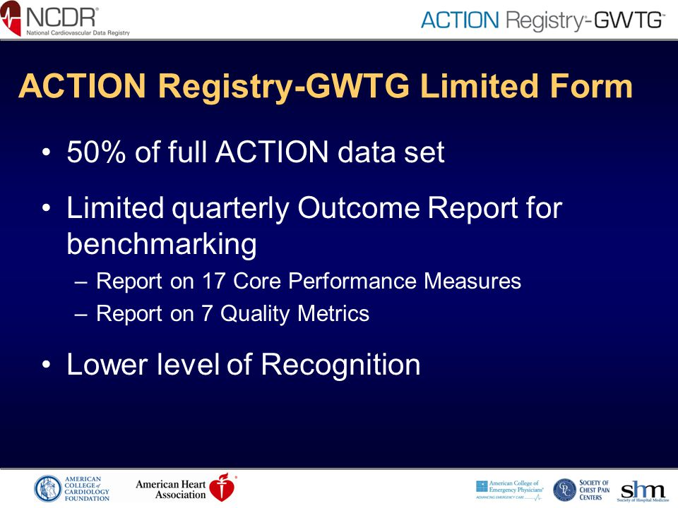 ACTION Registry-GWTG Limited Form