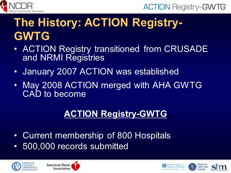 The History: ACTION Registry-GWTG