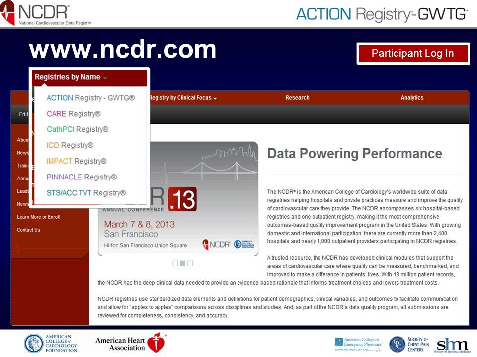 www.ncdr.com Participant Log In