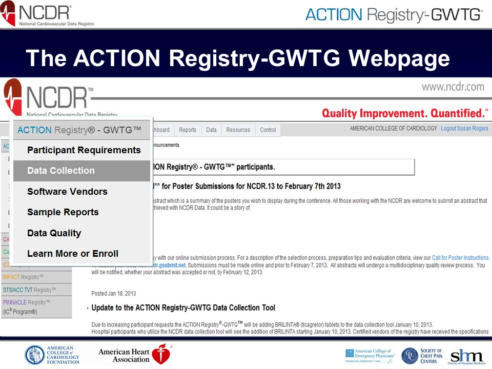 The ACTION Registry-GWTG Webpage