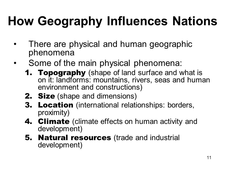 How Geography Influences Nations