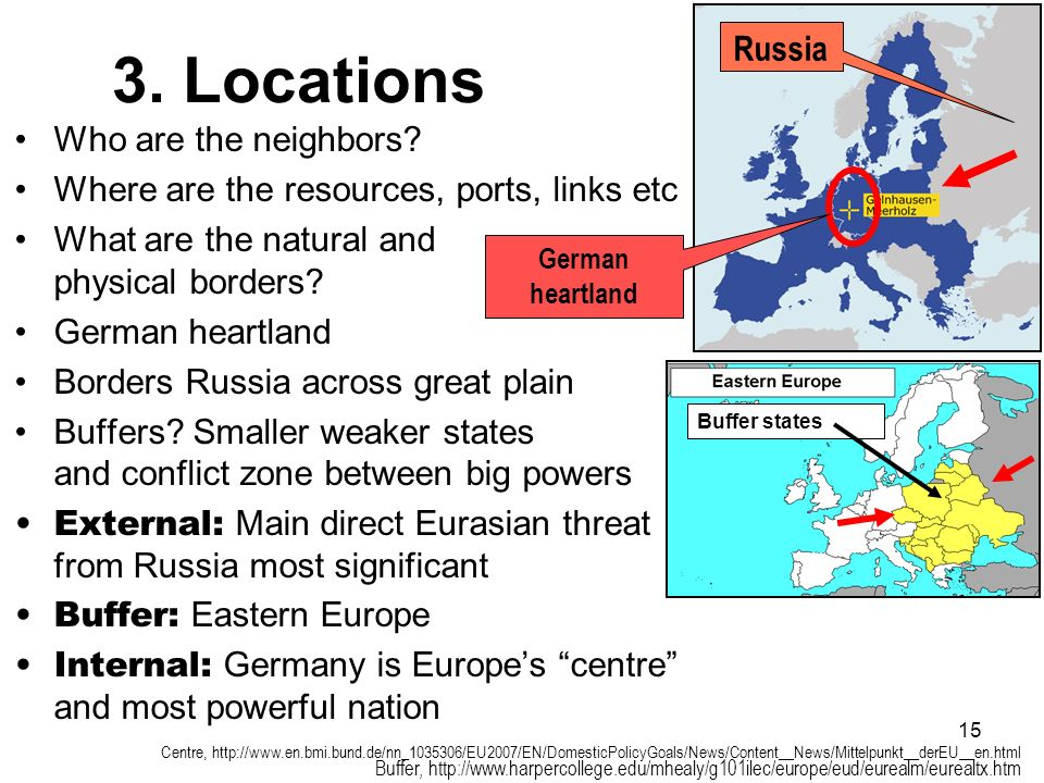 3. Locations Russia Who are the neighbors