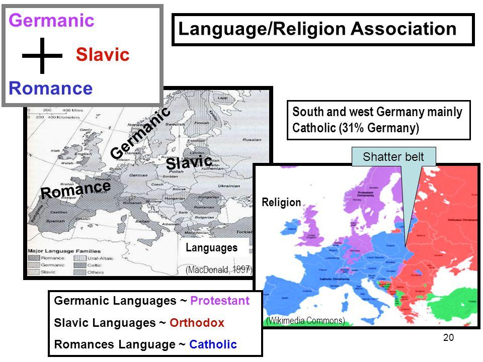 Language/Religion Association