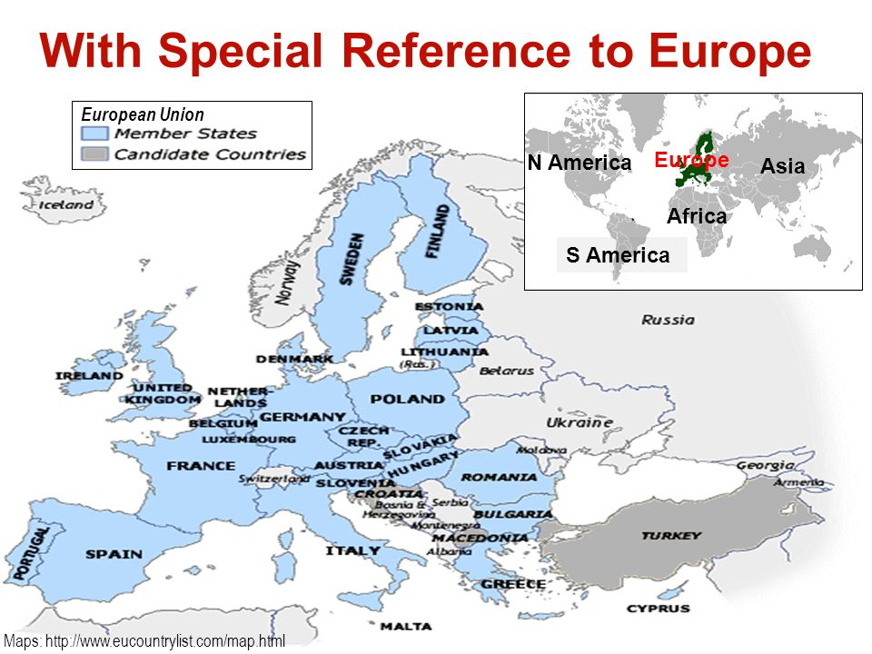 With Special Reference to Europe