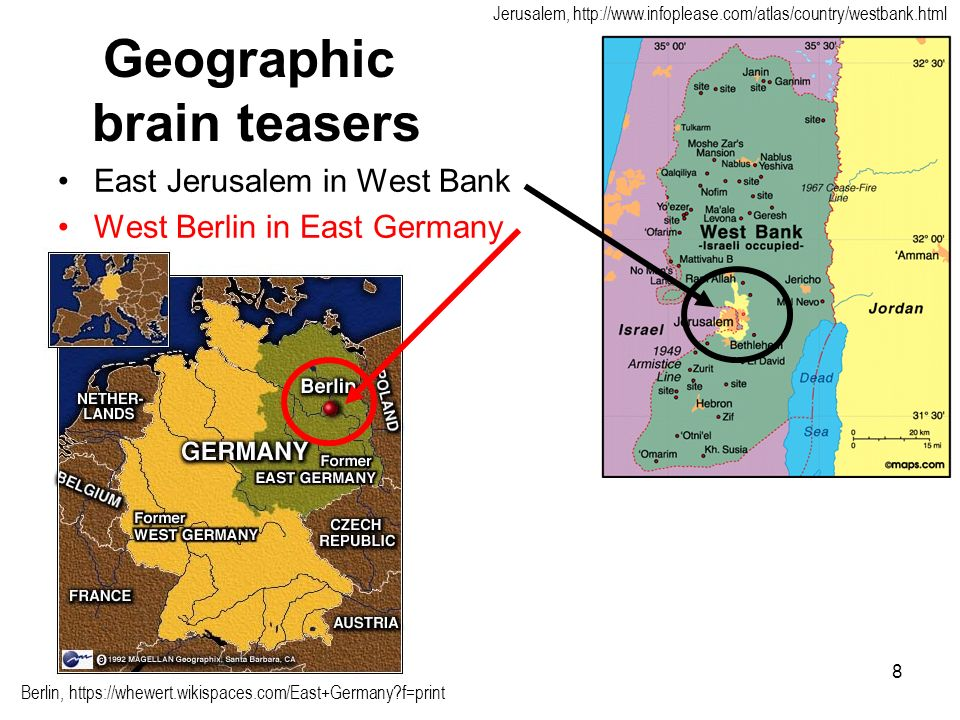 Geographic brain teasers