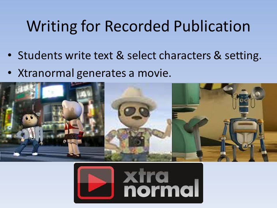 Writing for Recorded Publication