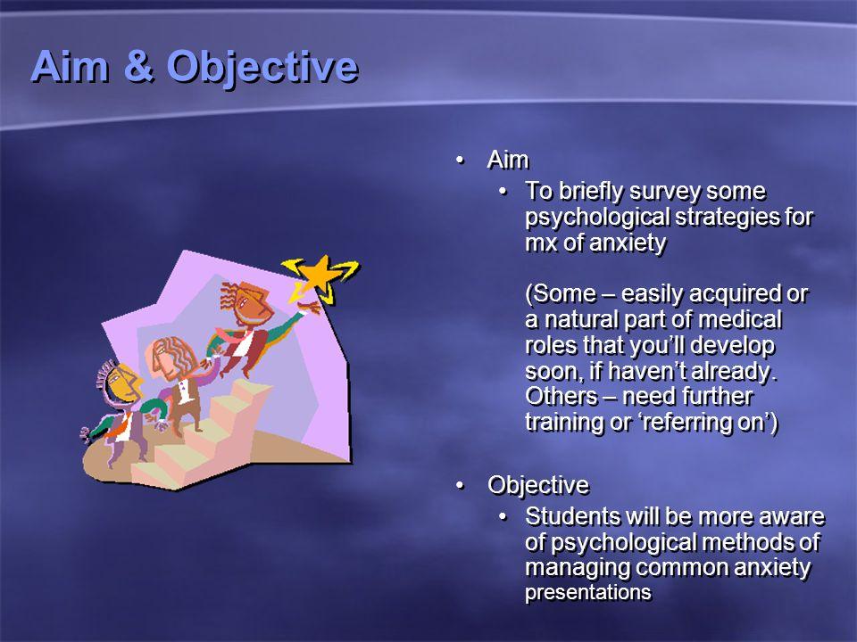Aim & Objective Aim.
