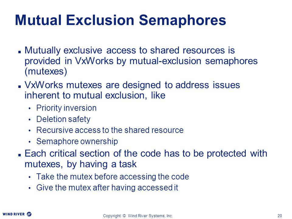Mutual Exclusion Semaphores