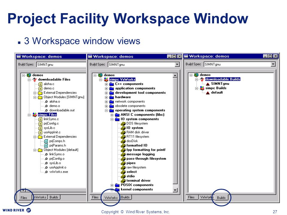 Project Facility Workspace Window