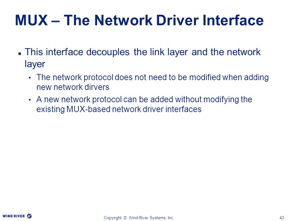 MUX – The Network Driver Interface