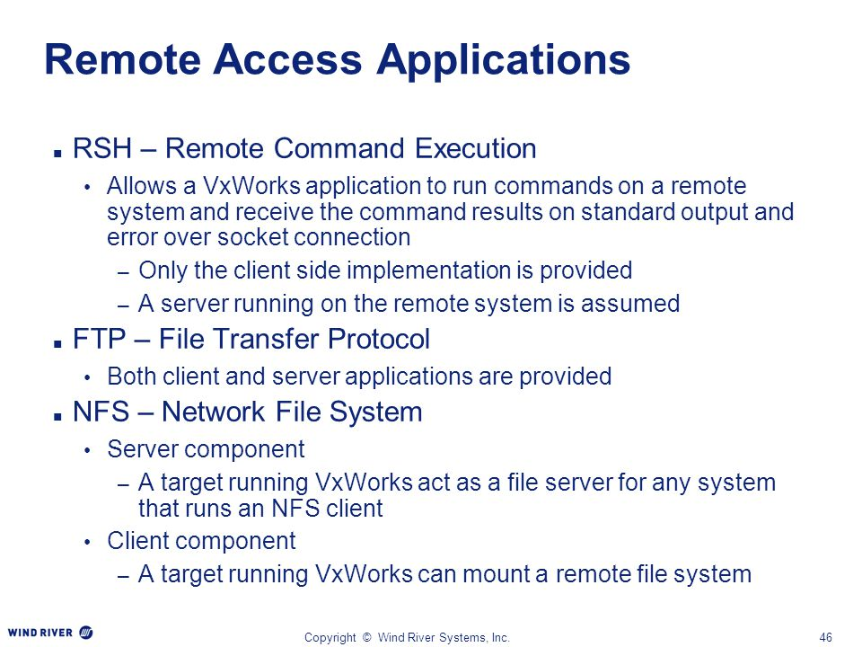 Remote Access Applications