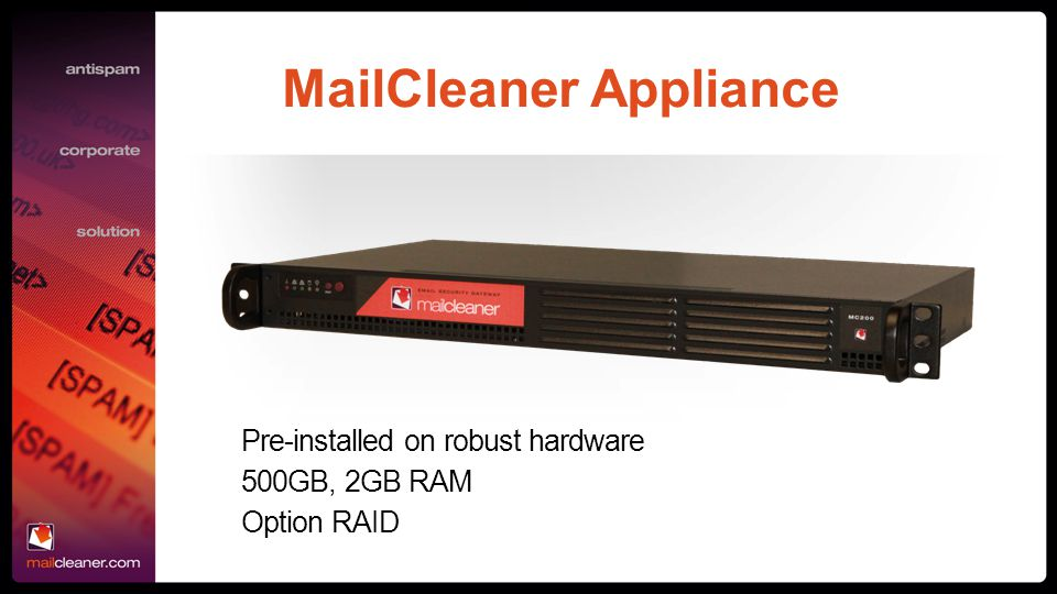 MailCleaner Appliance
