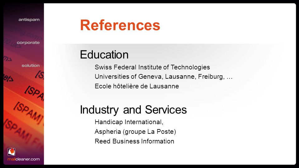 References Education Industry and Services