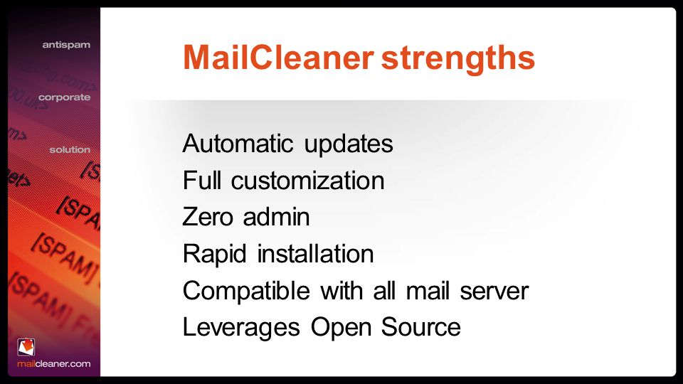 MailCleaner strengths