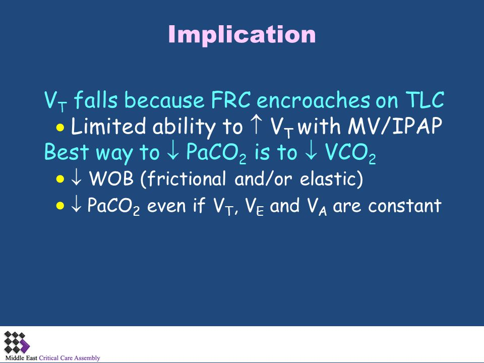 Implication VT falls because FRC encroaches on TLC