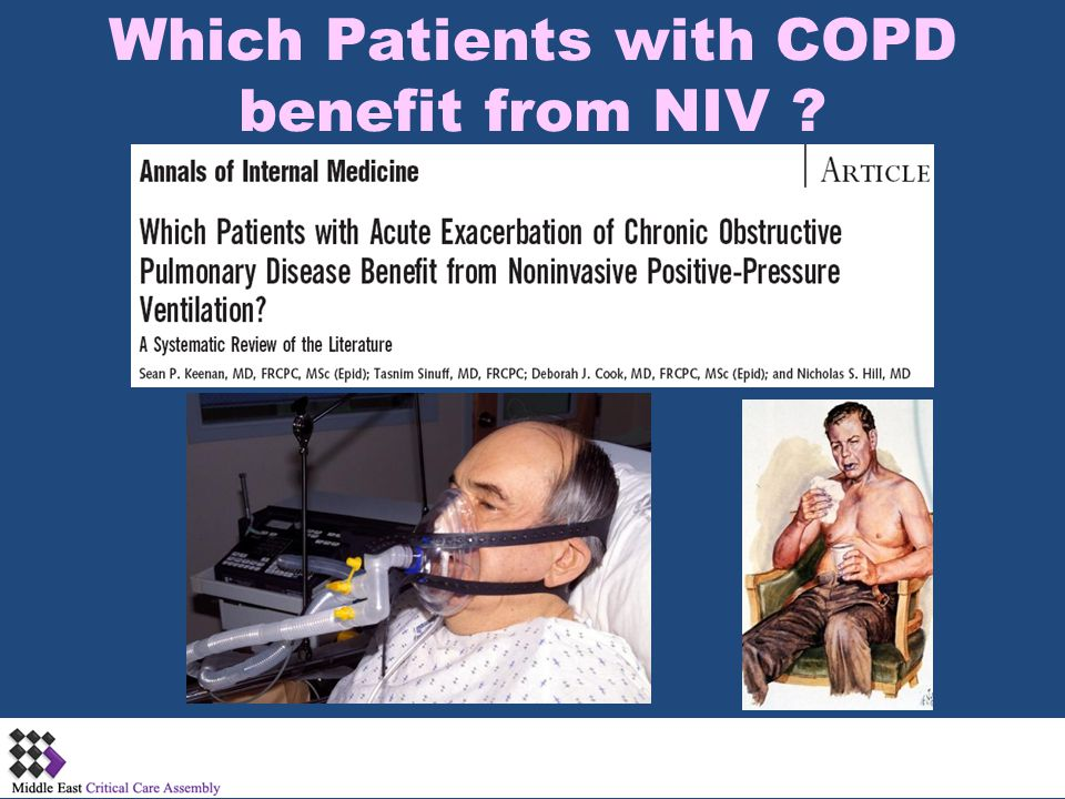 Which Patients with COPD benefit from NIV