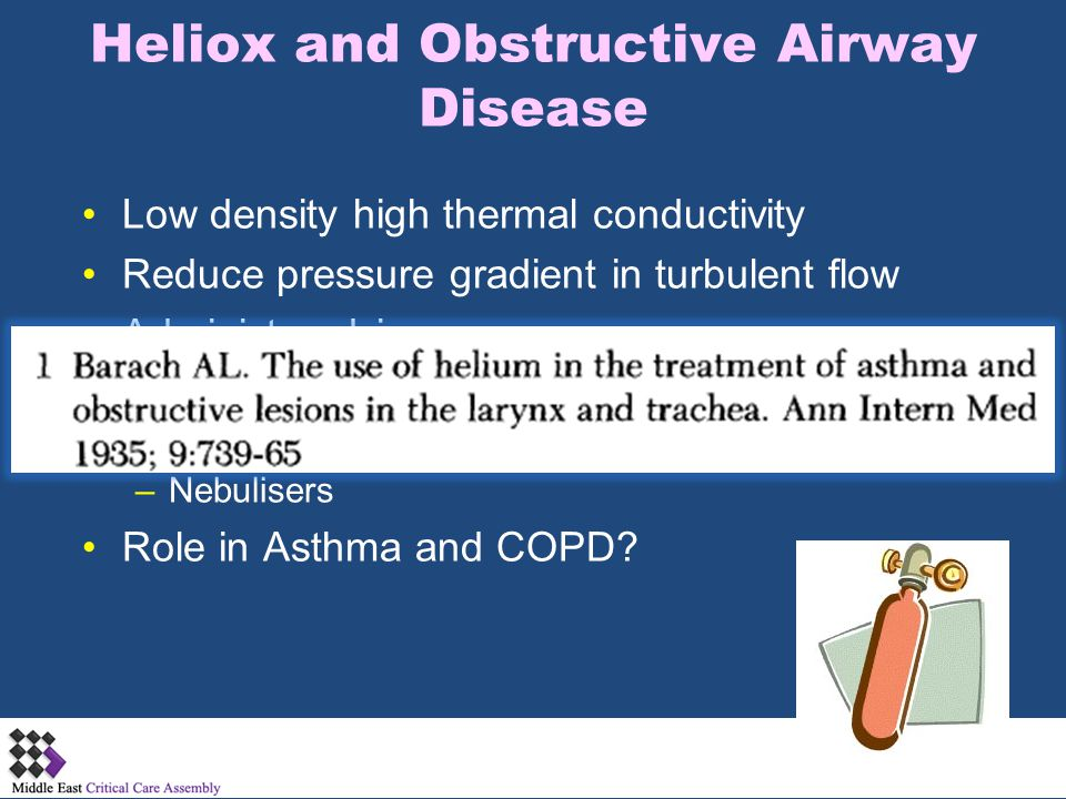 Heliox and Obstructive Airway Disease