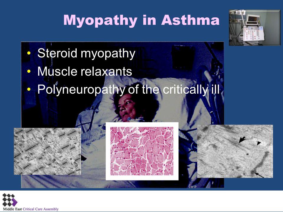 Myopathy in Asthma Steroid myopathy Muscle relaxants