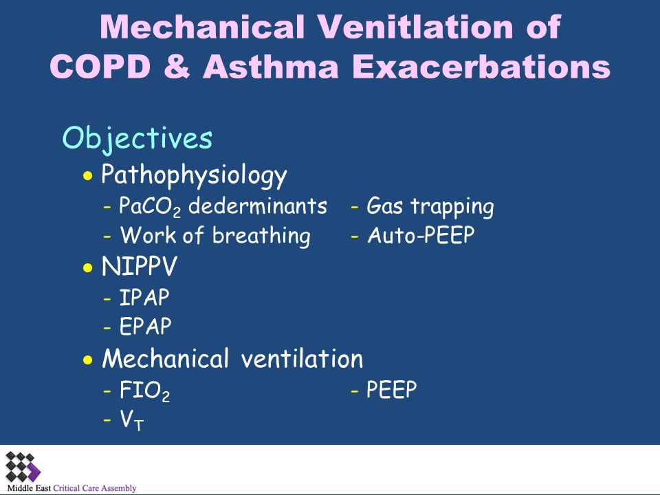 Mechanical Venitlation of COPD & Asthma Exacerbations