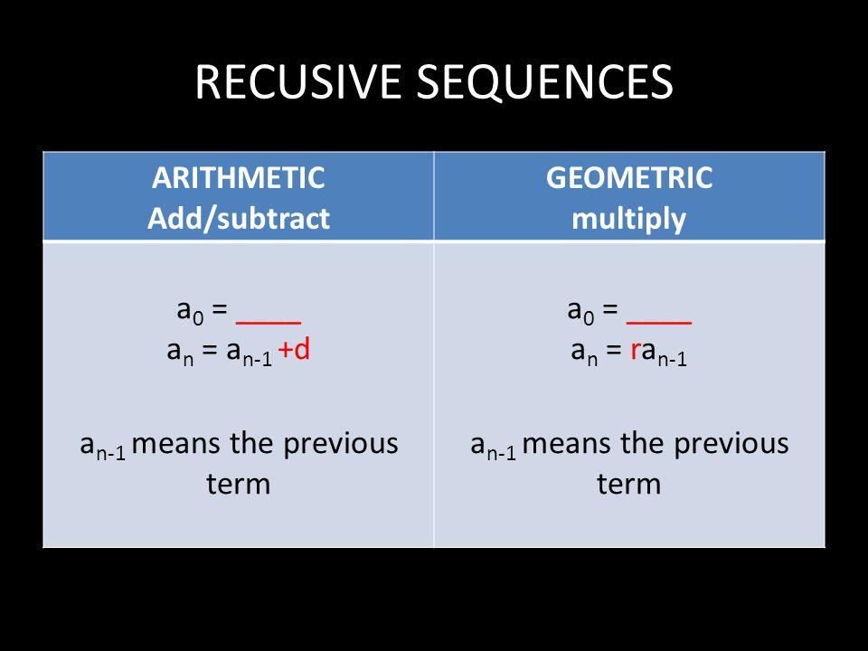 an-1 means the previous term