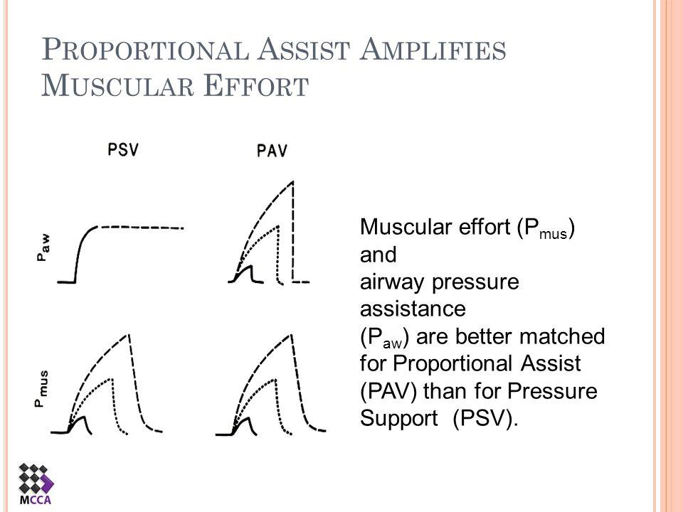 Proportional Assist Amplifies Muscular Effort