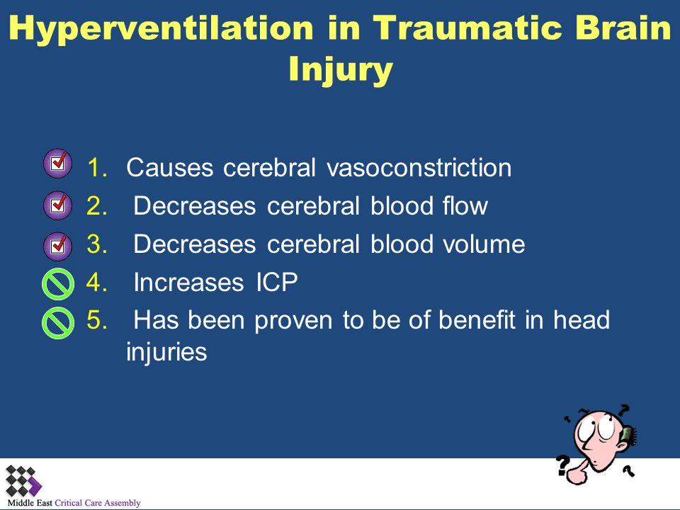 Hyperventilation in Traumatic Brain Injury