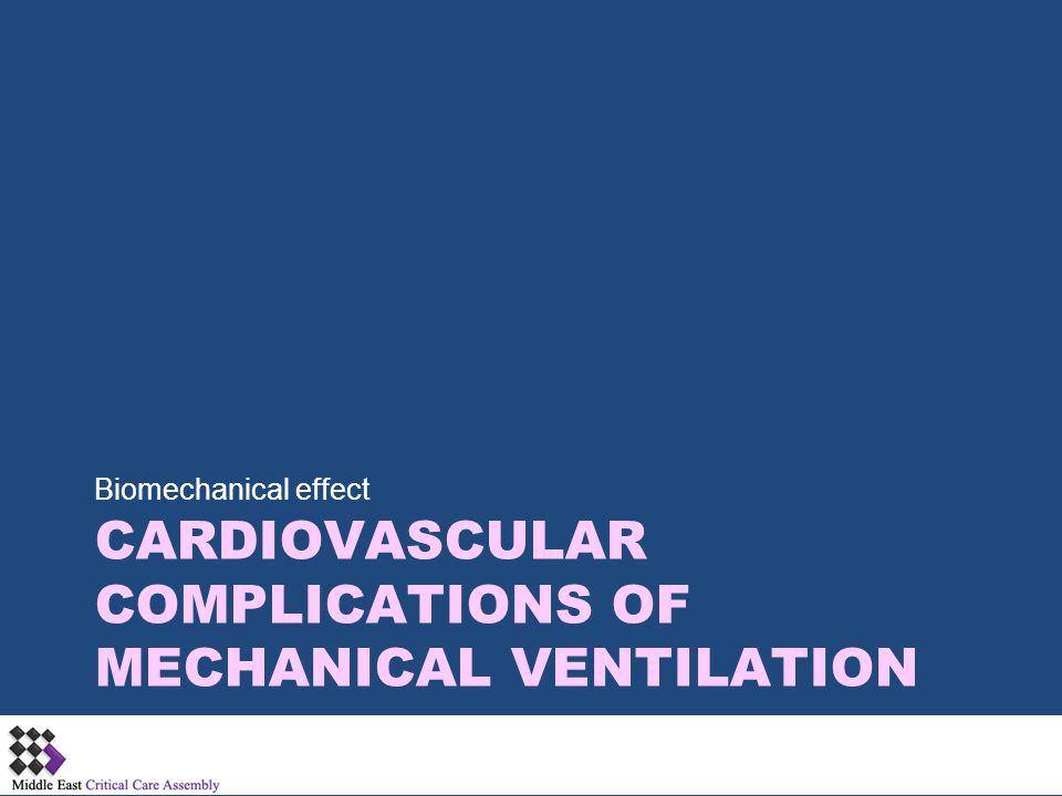 Cardiovascular complications of Mechanical Ventilation