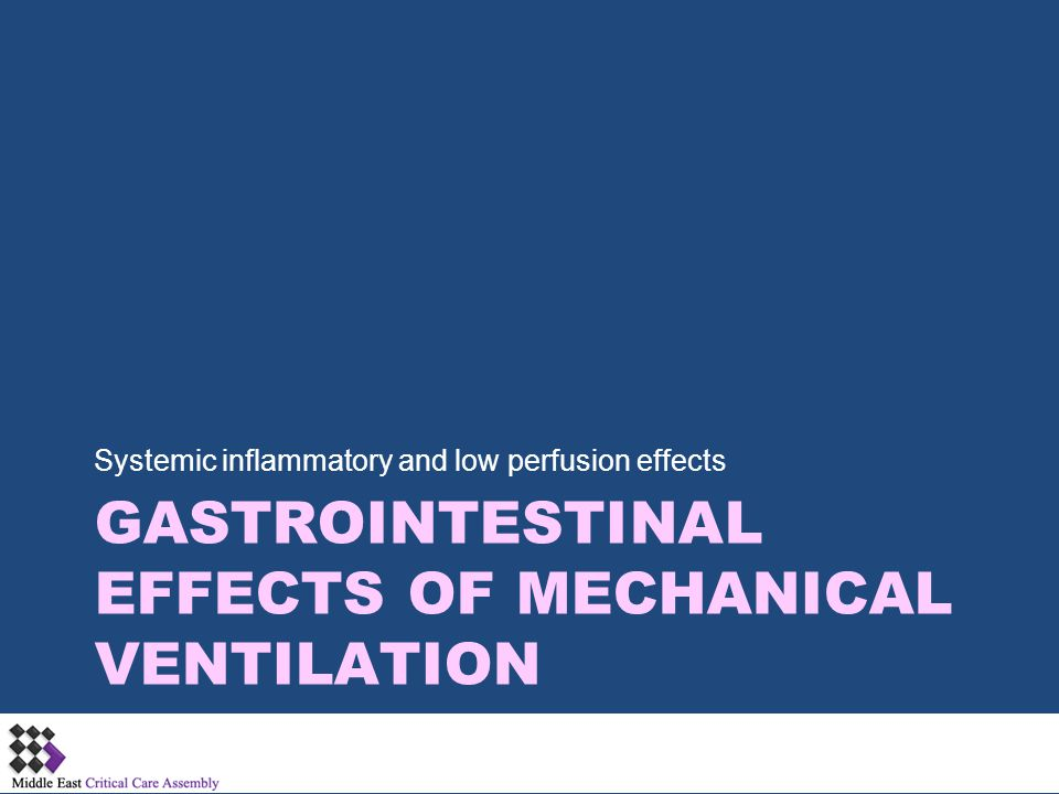Gastrointestinal Effects of Mechanical Ventilation