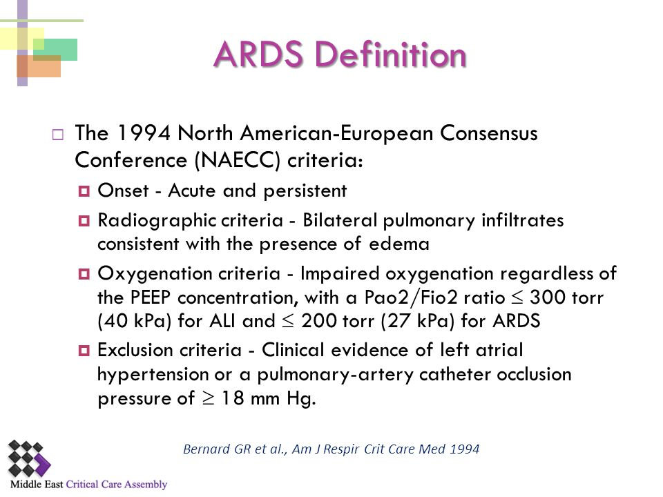 Bernard GR et al., Am J Respir Crit Care Med 1994
