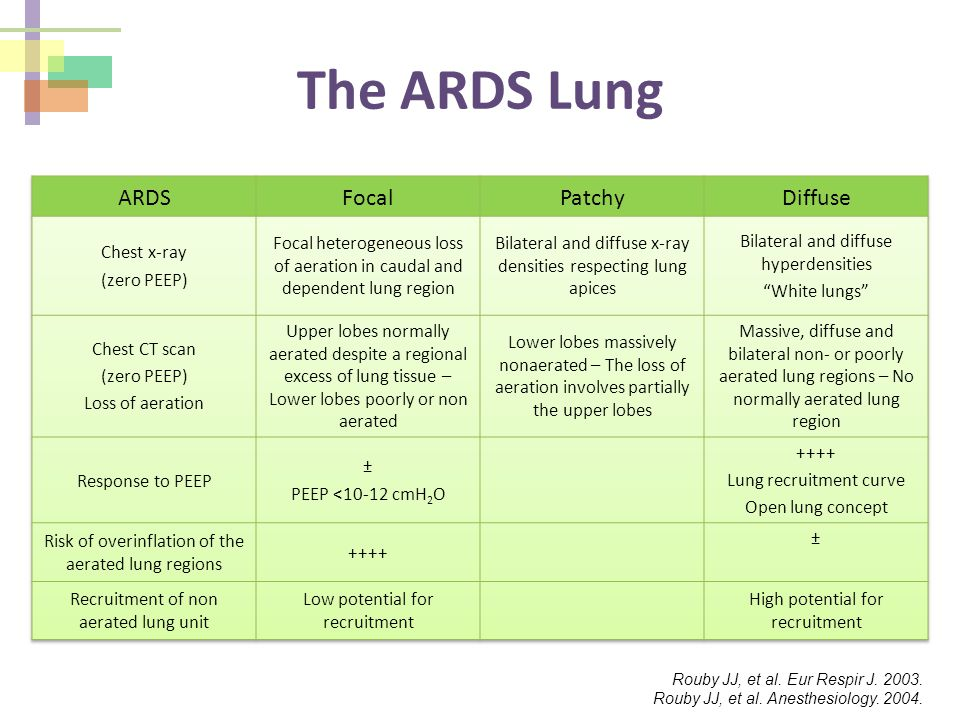 The ARDS Lung ARDS Focal Patchy Diffuse Chest x-ray (zero PEEP)